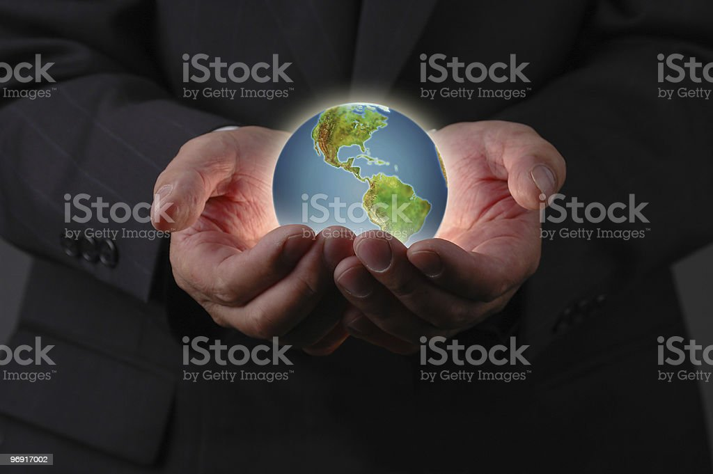 The planet earth is in our hands royalty-free stock photo