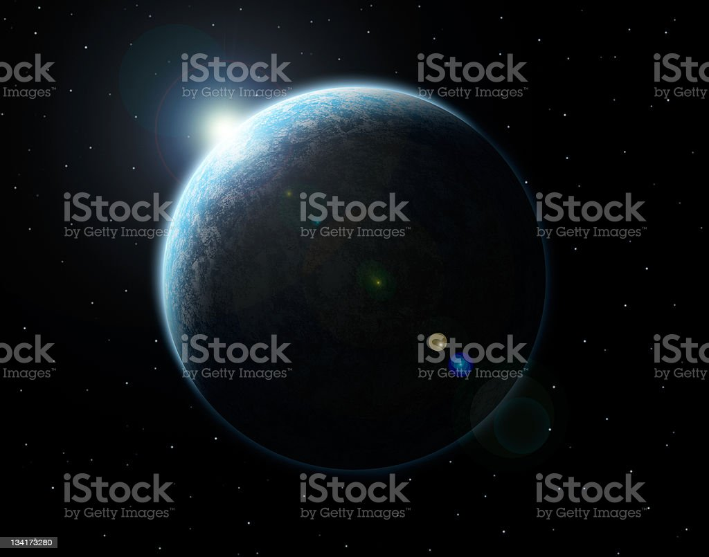 the planet royalty-free stock photo