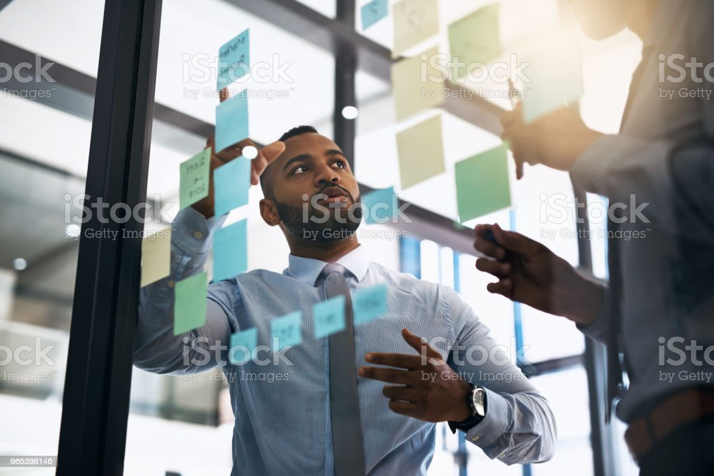 The planning phase is in full swing royalty-free stock photo