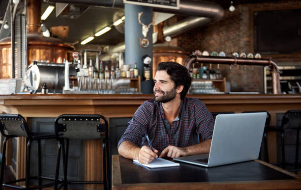 The planning that goes into owning a successful pub stock photo