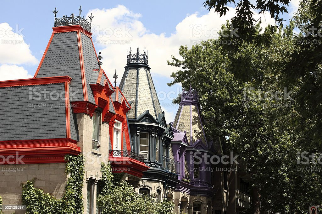 Le Plateau-Mont-Royal. Montréal stock photo