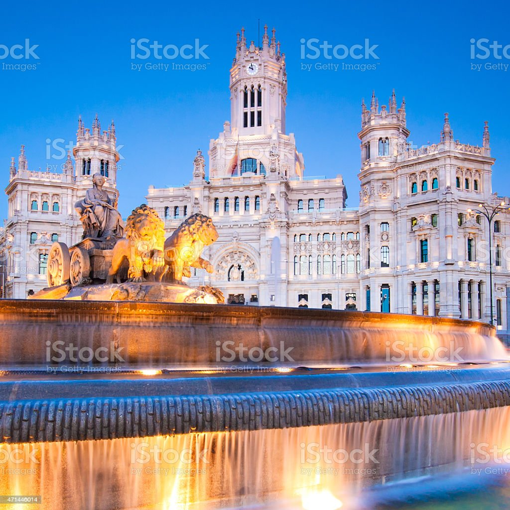 The plaza de Cibeles in Madrid, Spain stock photo