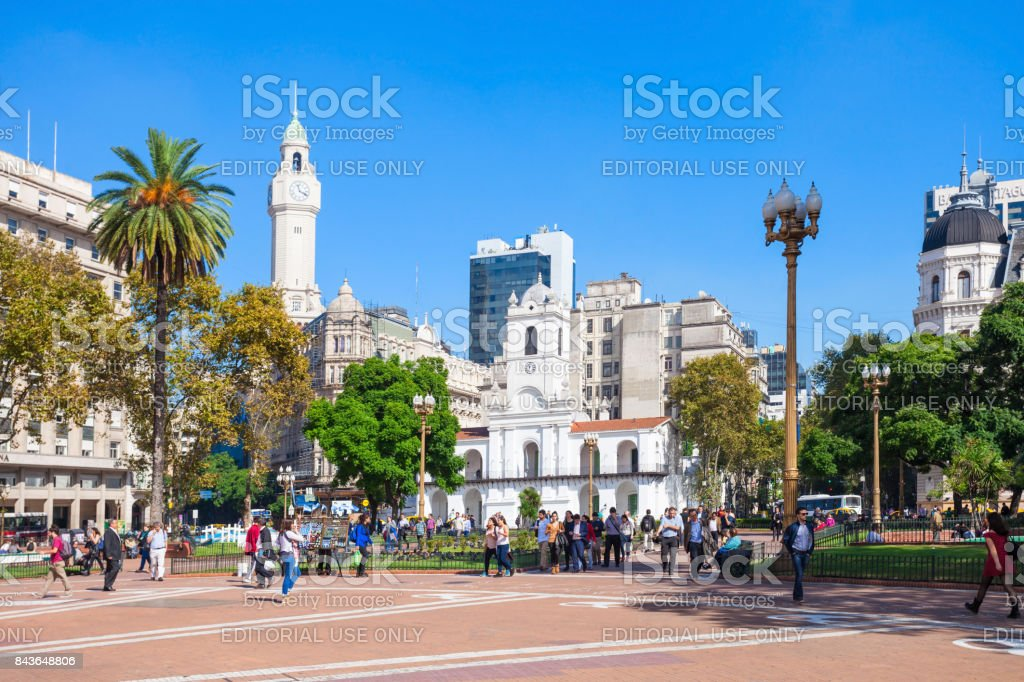 The Plaza de Mayo stock photo