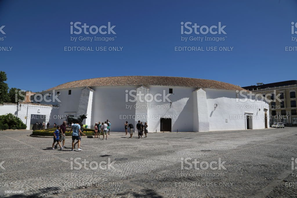 The Plaza de toros de Ronda stock photo