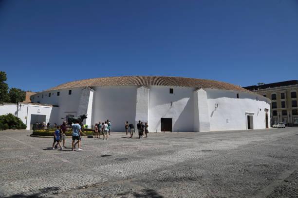 the plaza de toros de ronda - pejft stock photos and pictures