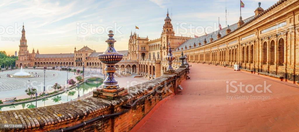 The Plaza Espana stock photo