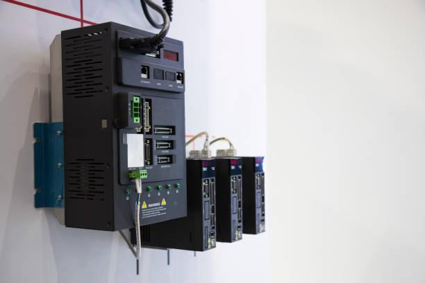 el regulador del PLC para máquina industrial - foto de stock