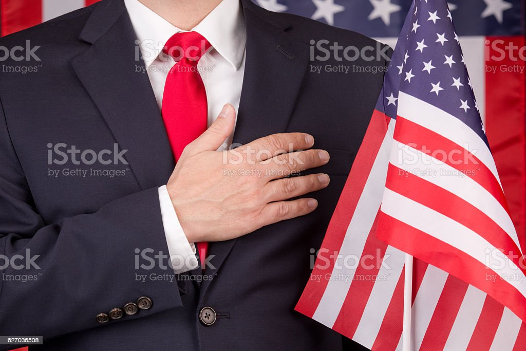 The Pledge Of Allegiance stock photo