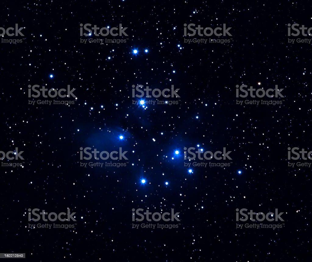 The Pleiades royalty-free stock photo