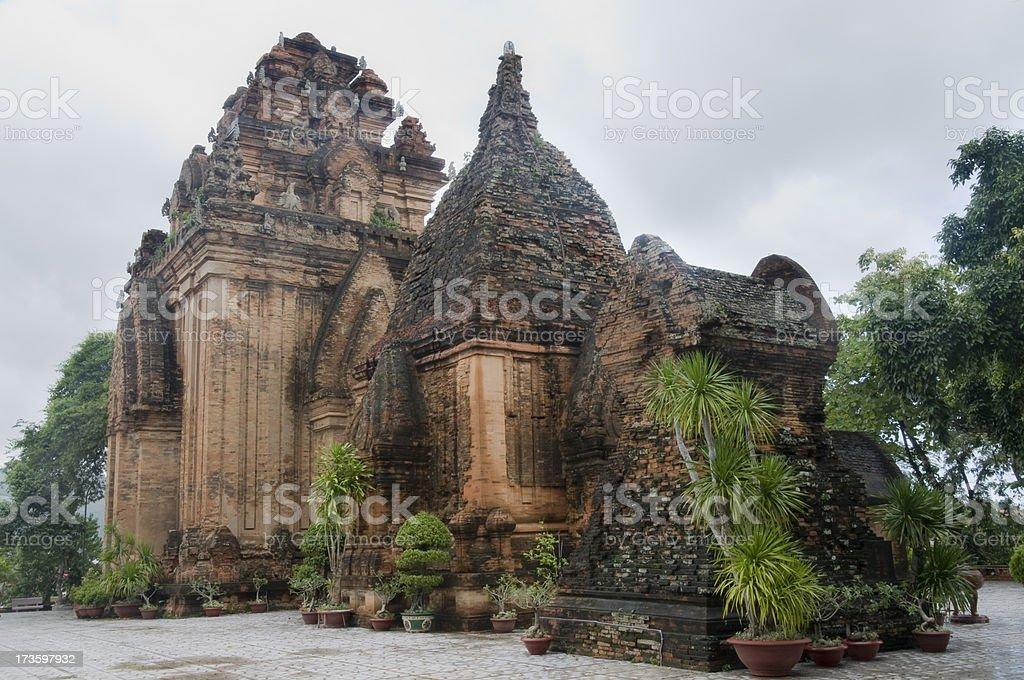 The Po Nagar Towers Cham In Nha Trang, Vietnam stock photo