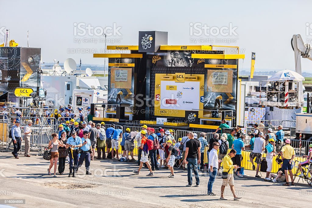 The Podium of Le Tour de France stock photo