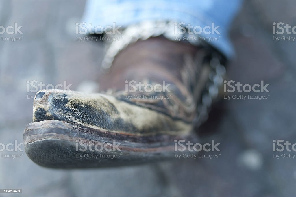 The Point Of A Boot royalty-free stock photo