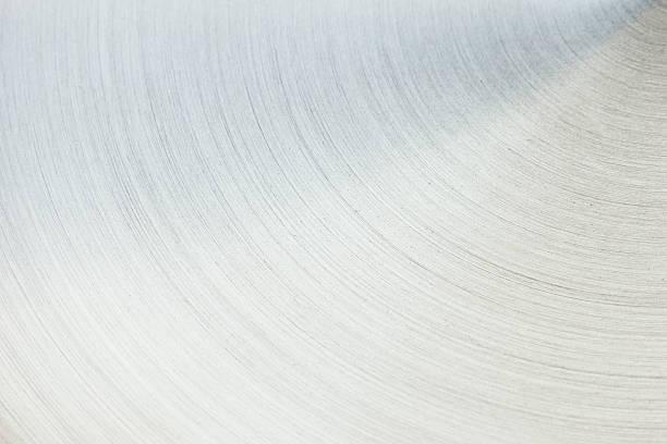 La surface en argent poli. Semi-circulaire ligne. - Photo