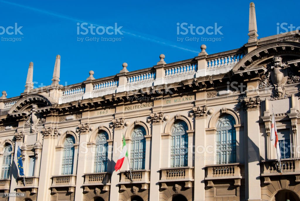 The Polytechnic University Building Of Milan In A Beautiful Day Stock Photo Download Image Now Istock