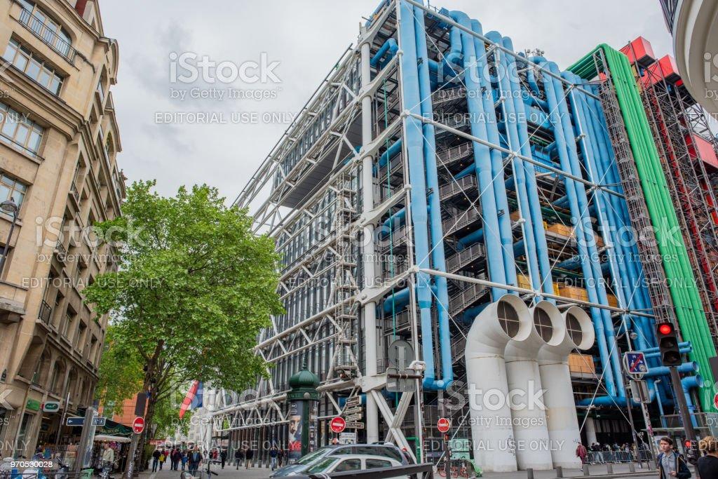 The Pompidou Center in Paris stock photo