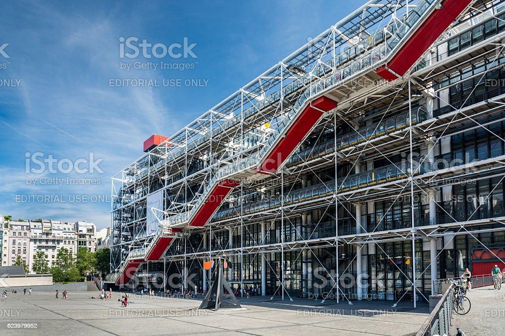 The Pompidou Centre in Paris stock photo