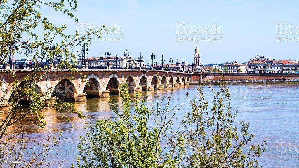 The Pont de pierre, or 'Stone Bridge' in Bordeaux, France - Photo