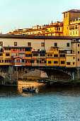 Sunset on the Arno River, Florence Italy