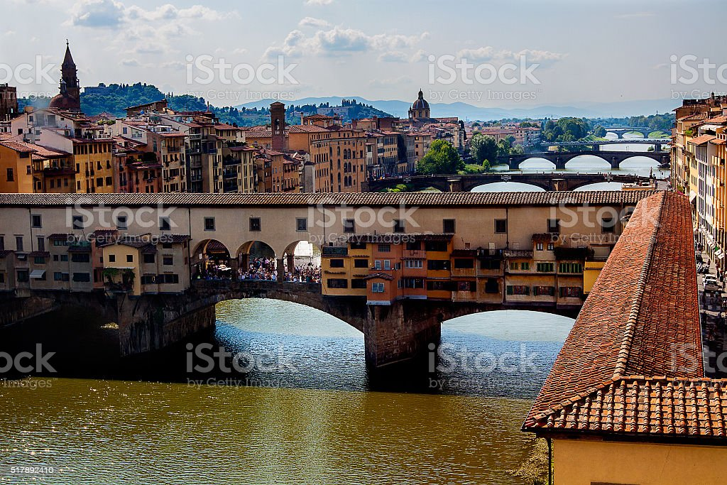 The Ponte Vecchio. Florence. Italy stock photo