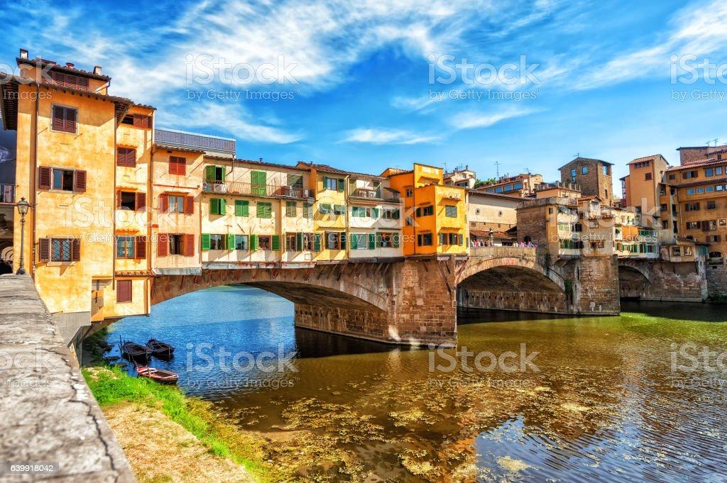 The Ponte Vecchio, Florence, Italy stock photo