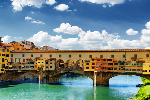 The Ponte Vecchio over the Arno River, Florence, Tuscany, Italy
