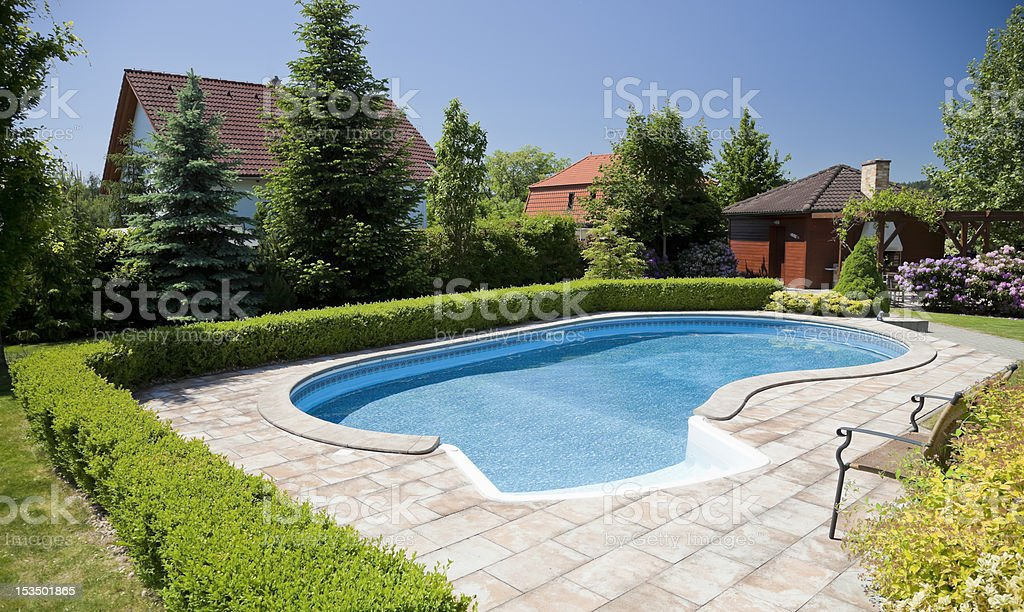 The pool stock photo