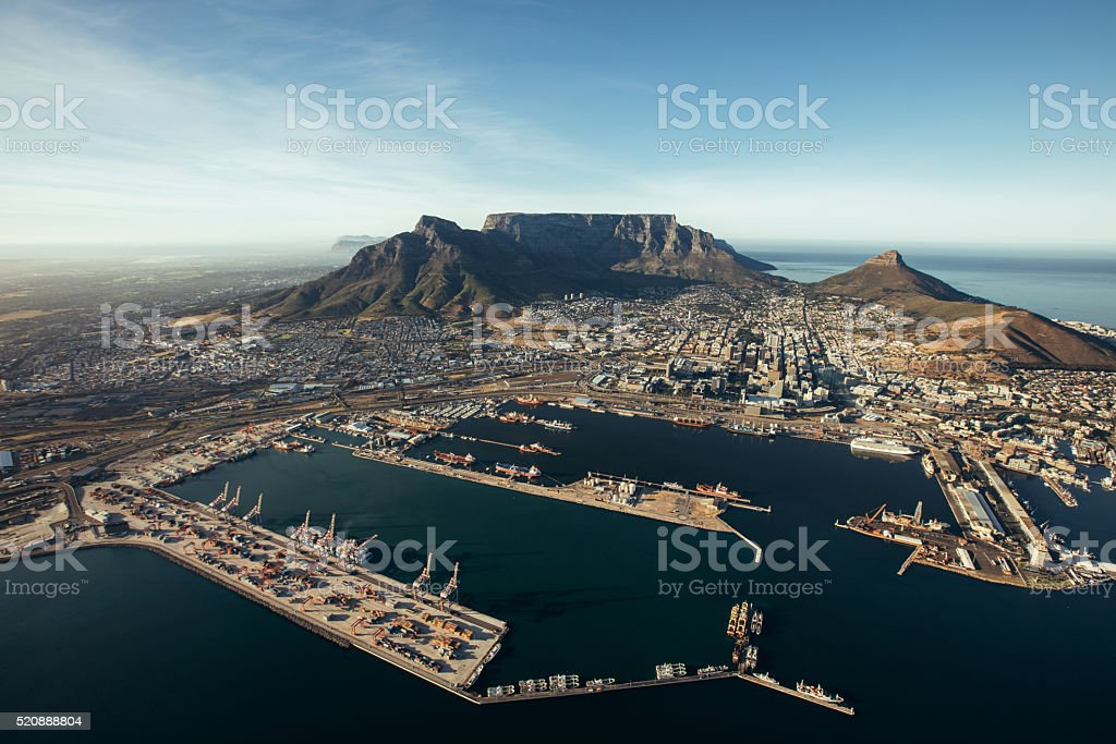 The Port of cape town stock photo