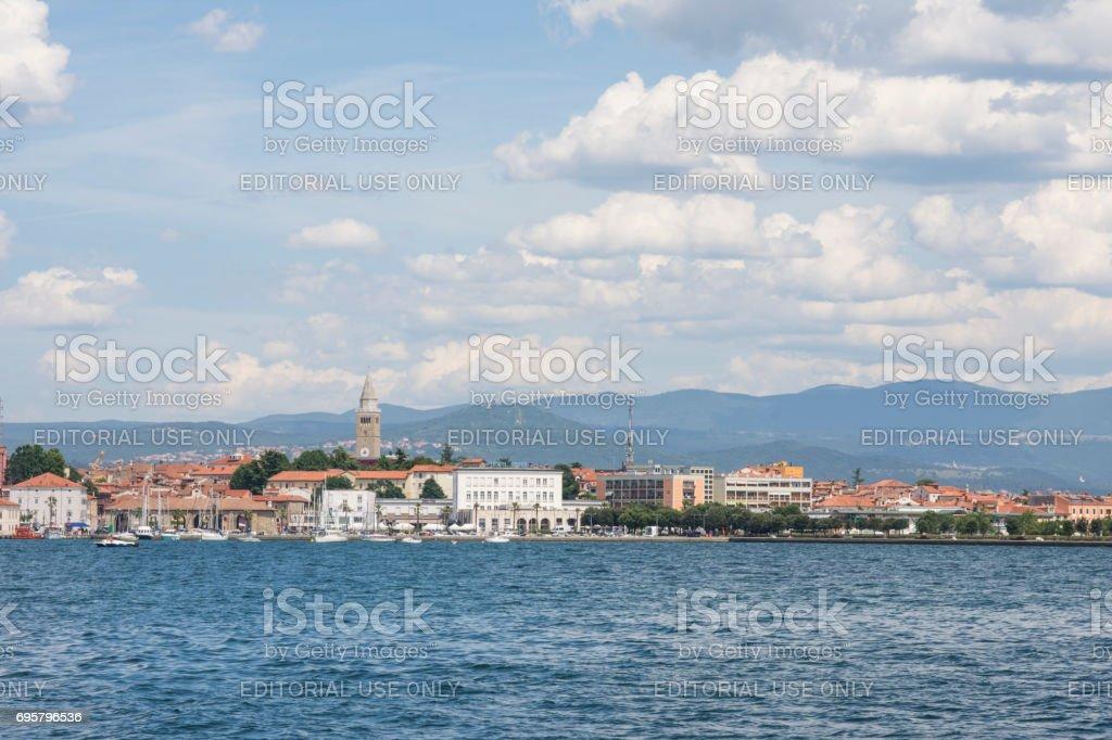 The port of Koper stock photo
