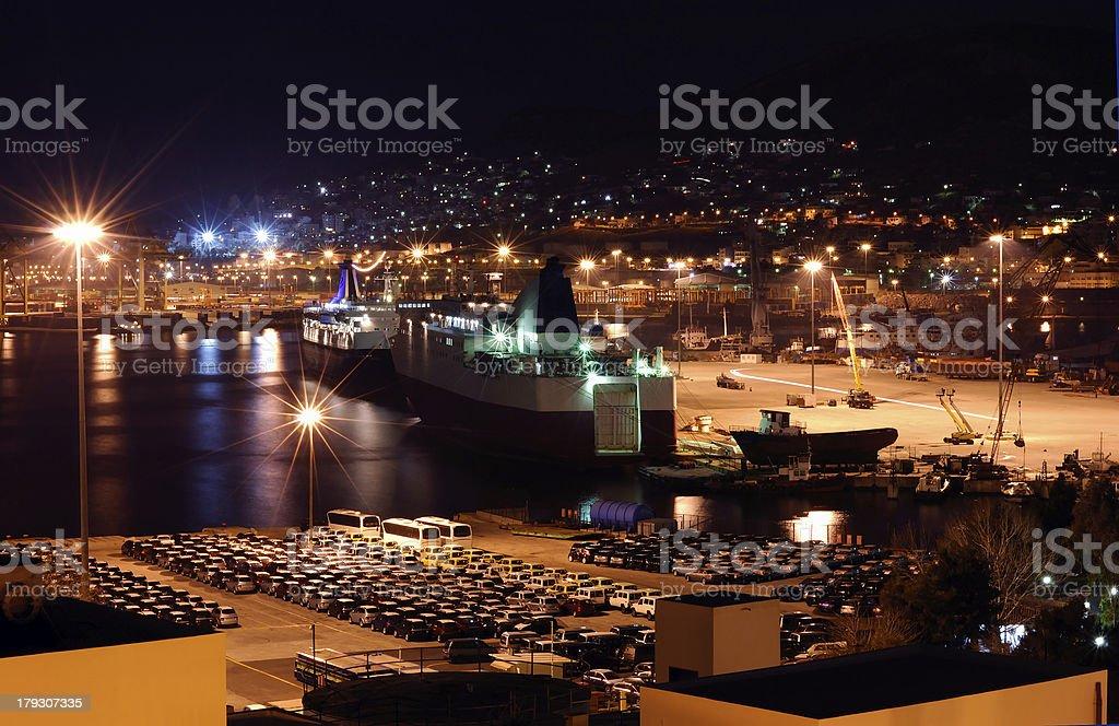 The port of Piraeus royalty-free stock photo