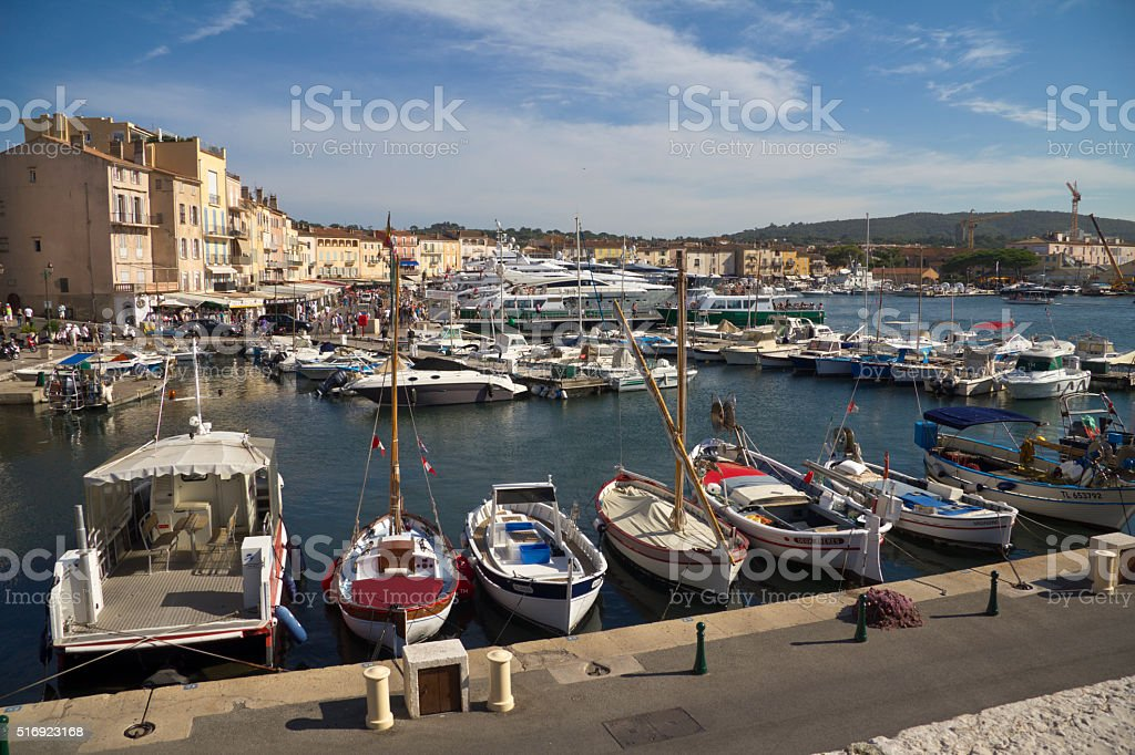 The Port Of Saint Tropez Stock Photo More Pictures Of Bay Of Water