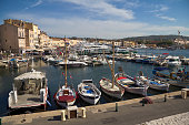 The port of Saint Tropez in the afternoon in France