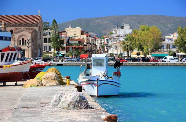 The port of Zakynthos city. Zakynthos or Zante island, Ionian Sea, Greece. stock photo