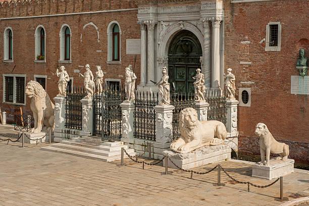The Porta Magna at Venetian Arsenal, Venice, Italy The Porta Magna at the Venetian Arsenal, Venice, Italy porta magna stock pictures, royalty-free photos & images