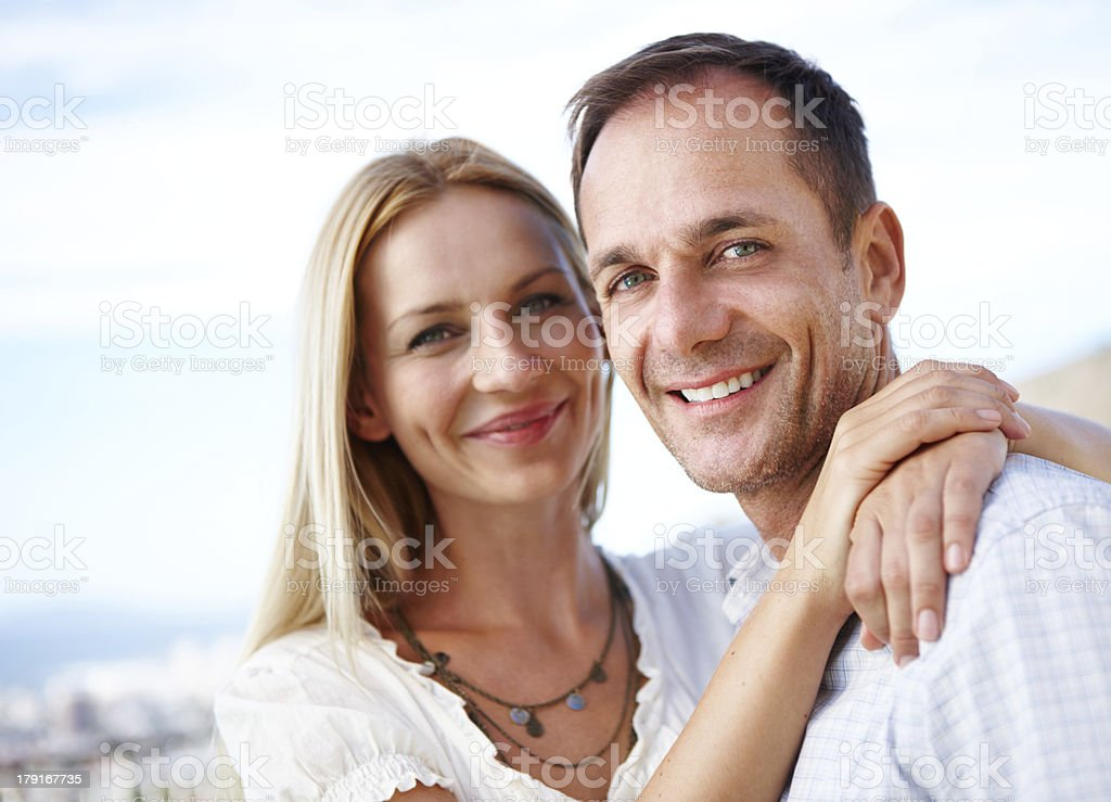 The portrait of a perfect couple royalty-free stock photo