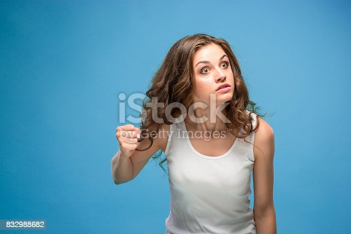 istock The portrait of disgusted woman 832988682