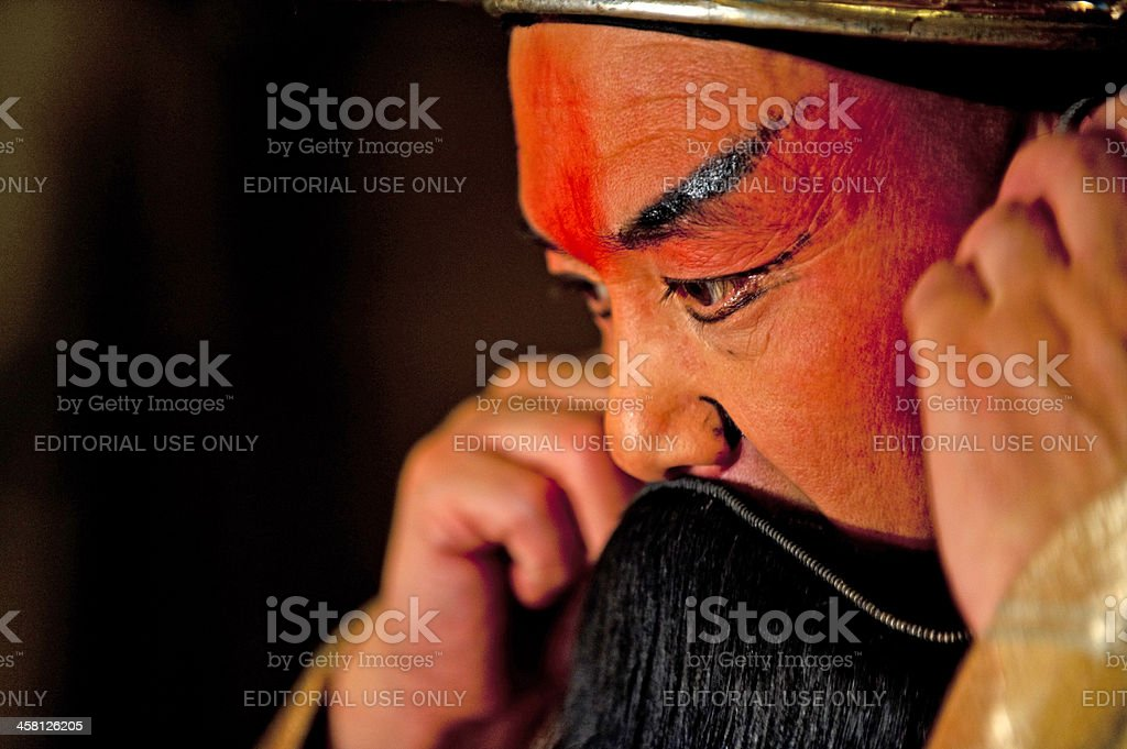 The portrait of Sichuan Opera actor royalty-free stock photo