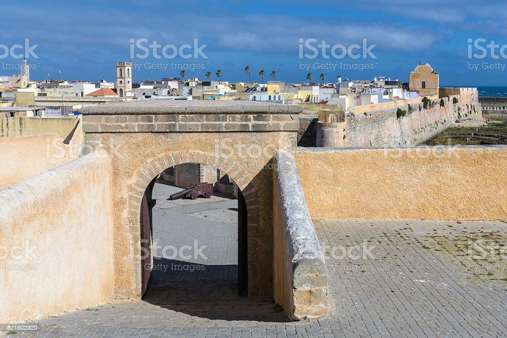 Die portugiesische Zitadelle von Mazagan, El Jadida, Marokko Lizenzfreies stock-foto