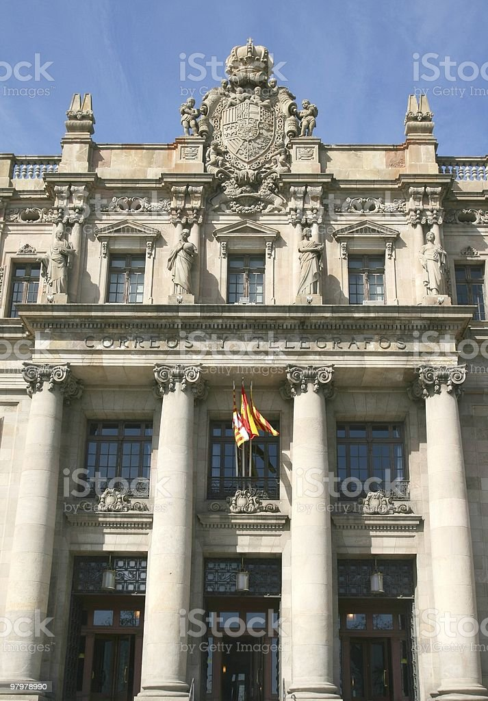 The Post Office, Barcelona royalty-free stock photo