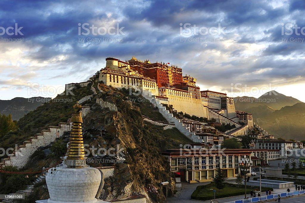The potala palace stock photo