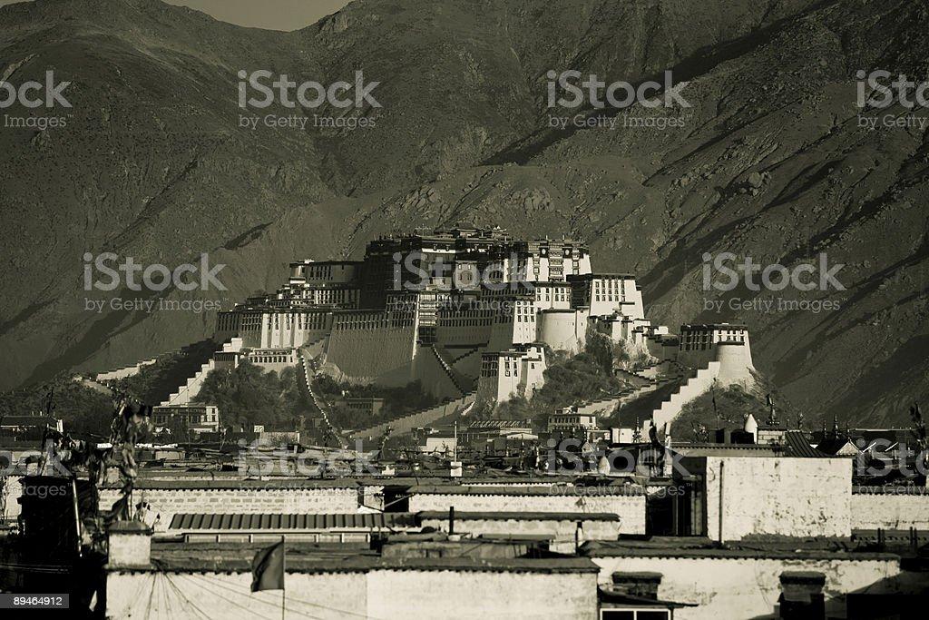 The Potala Palace royalty-free stock photo