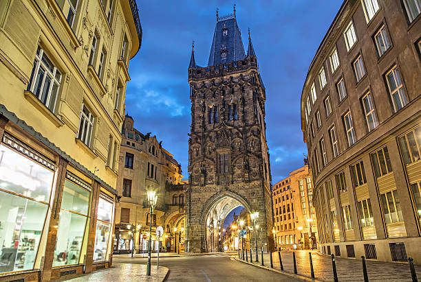The Powder Tower - medieval gothic city gate in Prague – Foto