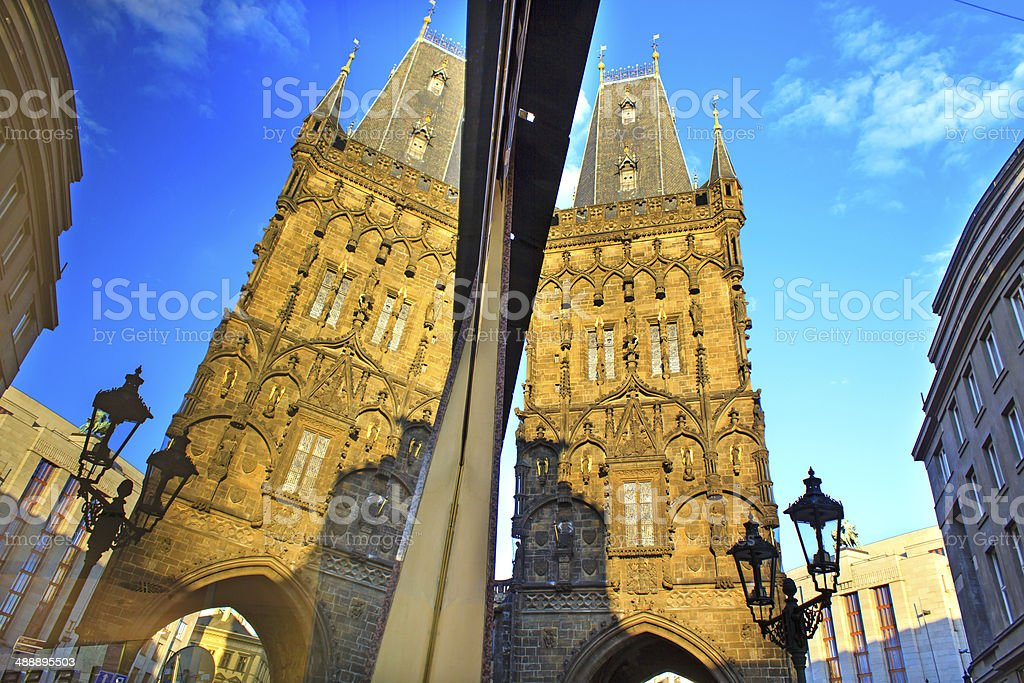 The Powder Tower, Prague stock photo