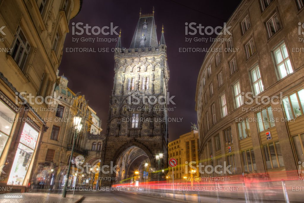 The Powder Towr in Prague stock photo