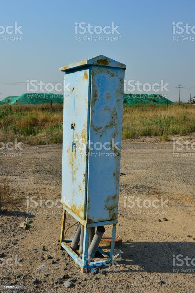 The power distribution box - Royalty-free Arame Foto de stock