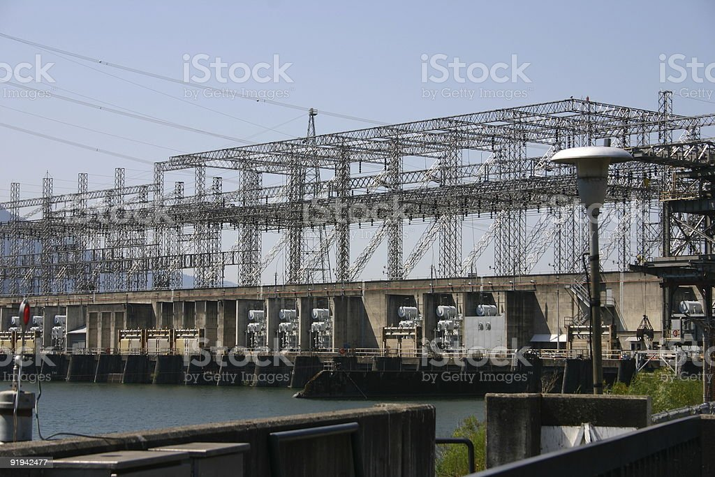 The power grid. stock photo