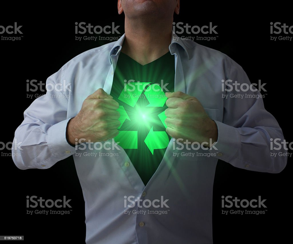 The Power of Recycle stock photo