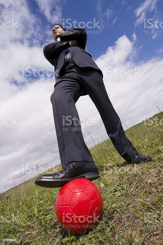 The power of soccer game royalty-free stock photo