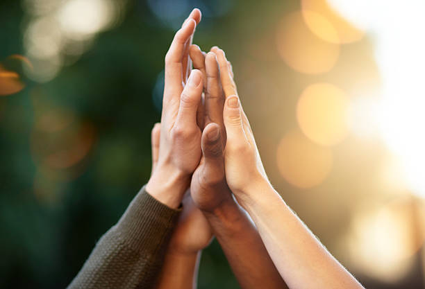 The power of solidarity stock photo