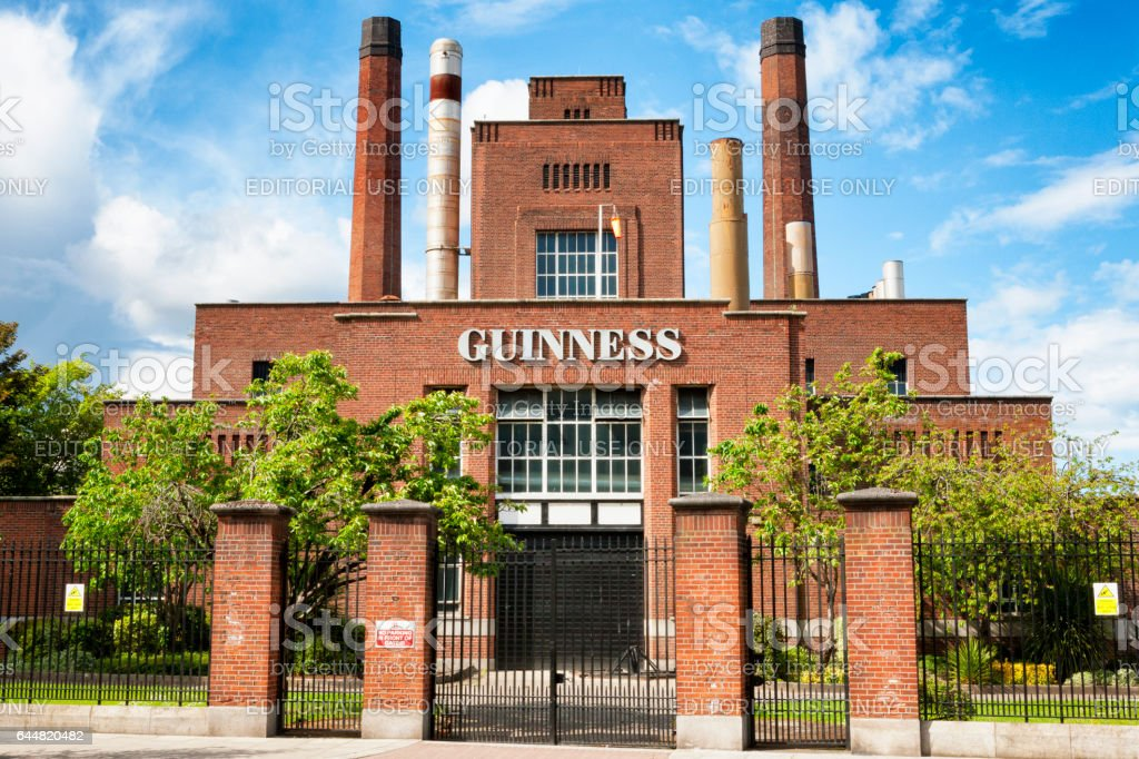 The Power station at the Guinness Brewery in Dublin, Ireland stock photo