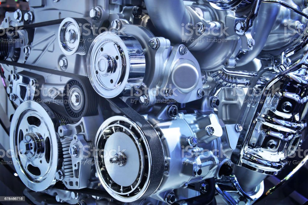 The powerful engine of a car - foto de stock